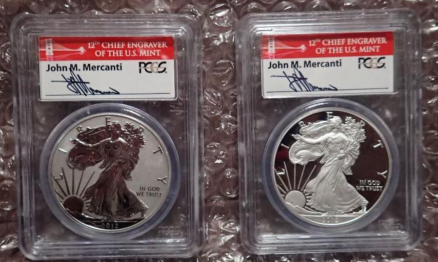 激レア本物評価20万円2枚限定セット2012S$1アメリカンシルバーイーグル銀貨プルーフレッ