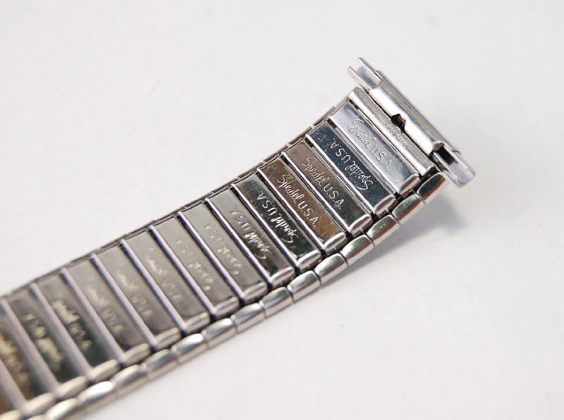 【Speidel】 USA 腕時計バンド 17-22mm デッドストック エクステンションベルト ブレス ビンテージウォッチに MB134_画像9