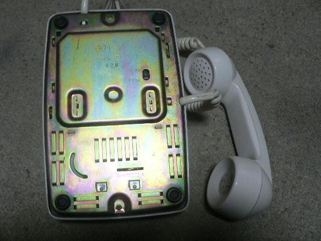 白電話 601-P プッシュ式 NTT 電電公社 固定電話 昭和レトロ ビンテージ アンティーク_画像6