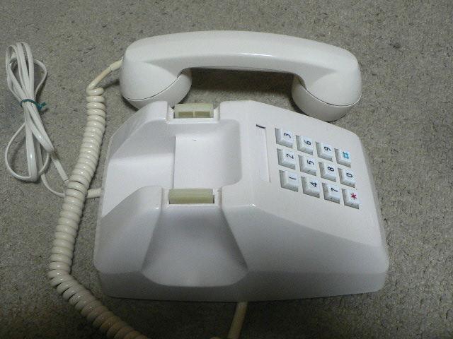 白電話 601-P プッシュ式 NTT 電電公社 固定電話 昭和レトロ ビンテージ アンティーク_画像4