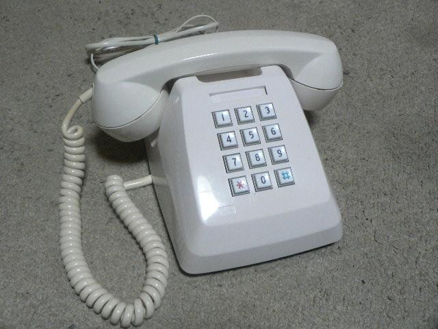 白電話 601-P プッシュ式 NTT 電電公社 固定電話 昭和レトロ ビンテージ アンティーク