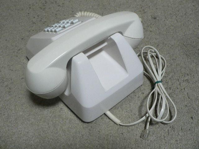 白電話 601-P プッシュ式 NTT 電電公社 固定電話 昭和レトロ ビンテージ アンティーク_画像2