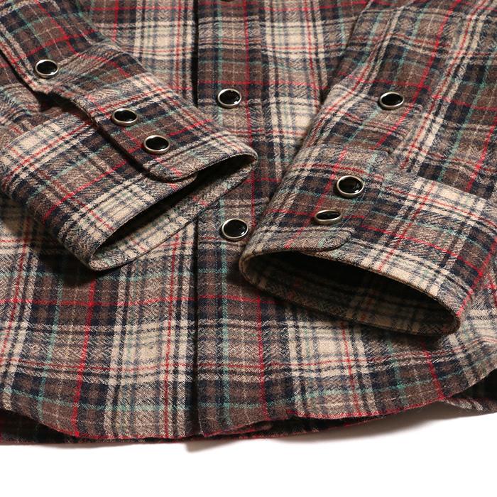 new product 510d8 34430 グッチ チェックシャツ 40 秋冬用 ウール 赤 茶 ブラウン レッド ...