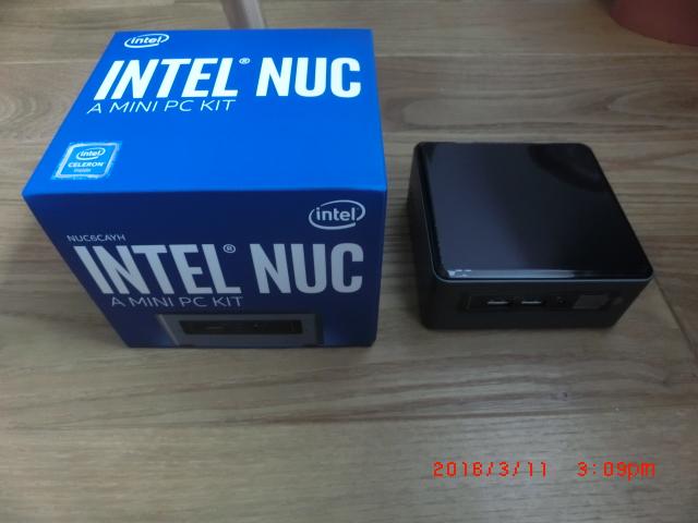 Intel NUC Celeron搭載 小型PC BOXNUC6CAYSAJR【Win10】