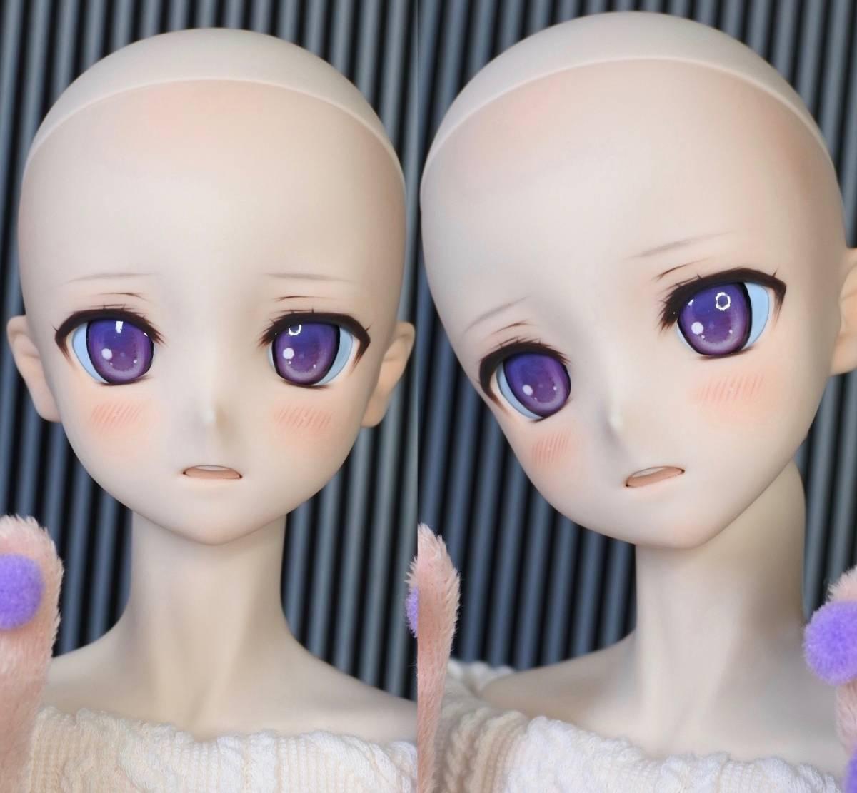 らら屋* DDH-09(開口 SW肌)カスタムヘッド&ウィッグ+α(獣耳+猫手袋+眼鏡)_画像10