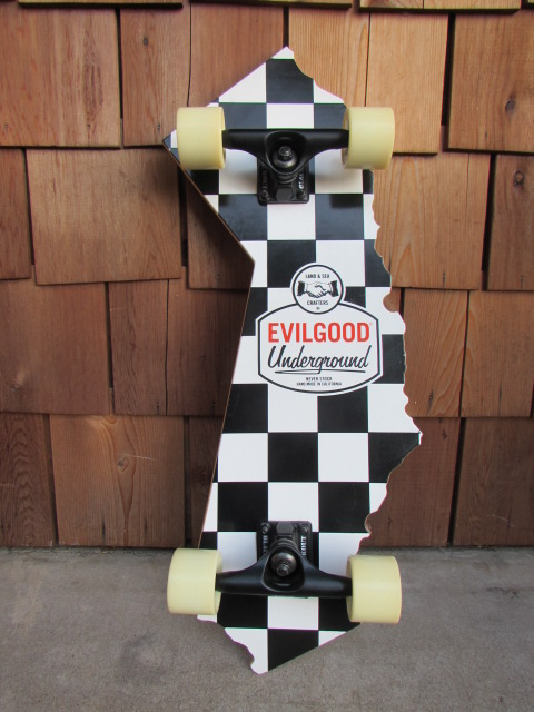EVILGOOD UNDERGROUND CALIFORNIA SKATEBOARDS / エヴィルグッド カリフォルニア スケートボード フラッグチェック_画像1