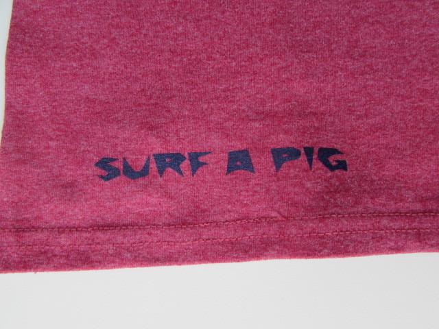 SURF A PIG T-シャツ PIG&PIG / サーフ ア ピッグ T-シャツ ピッグ&ピッグ Sサイズ_画像5