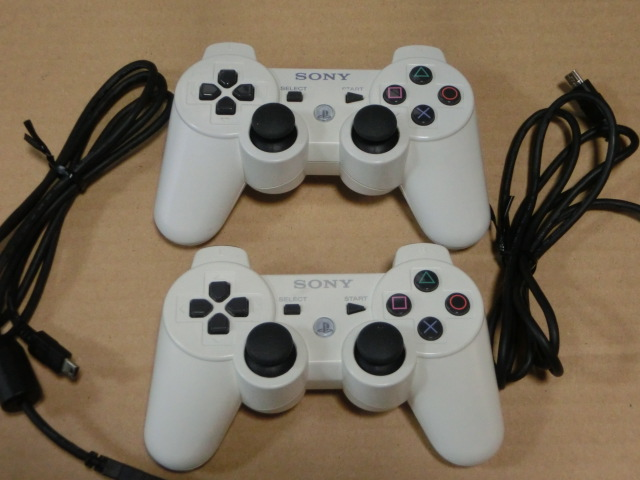 SONYソニー プレステ3 PS3コントローラー CECHZC2J 3個 CECHZC2JA1 2個 ジャンク_画像3