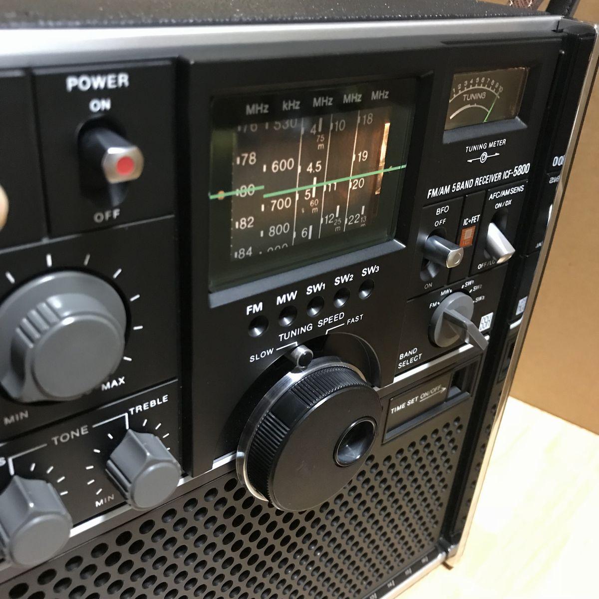 ★Used 美品】SONY ソニー BCLラジオ スカイセンサー ICF-5800_画像4