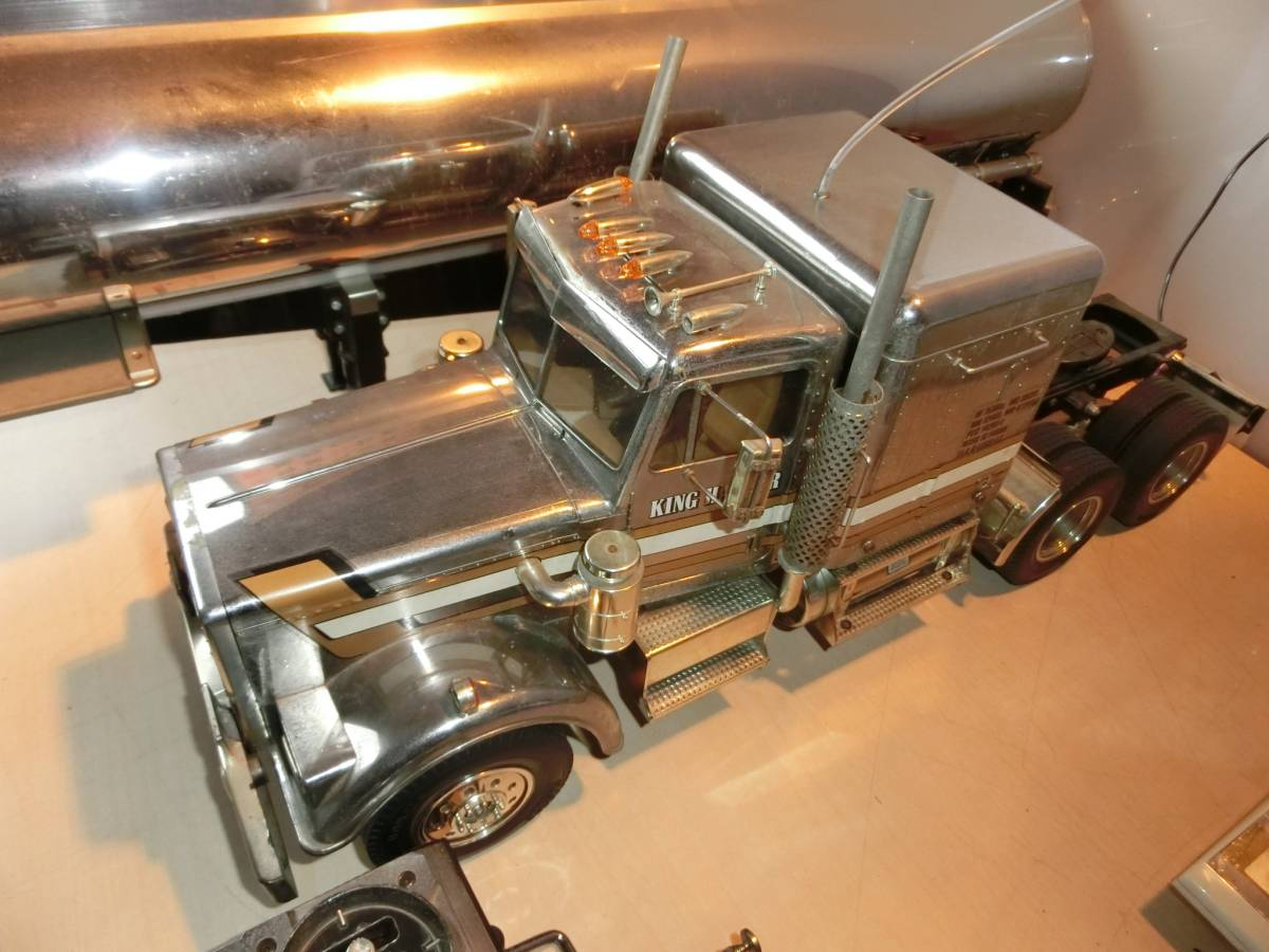 キングハウラー タミヤ  ラジコン  トラック  トレーラー  プロモ ATTACK-4 4WD AM27  ジャンク品_画像3