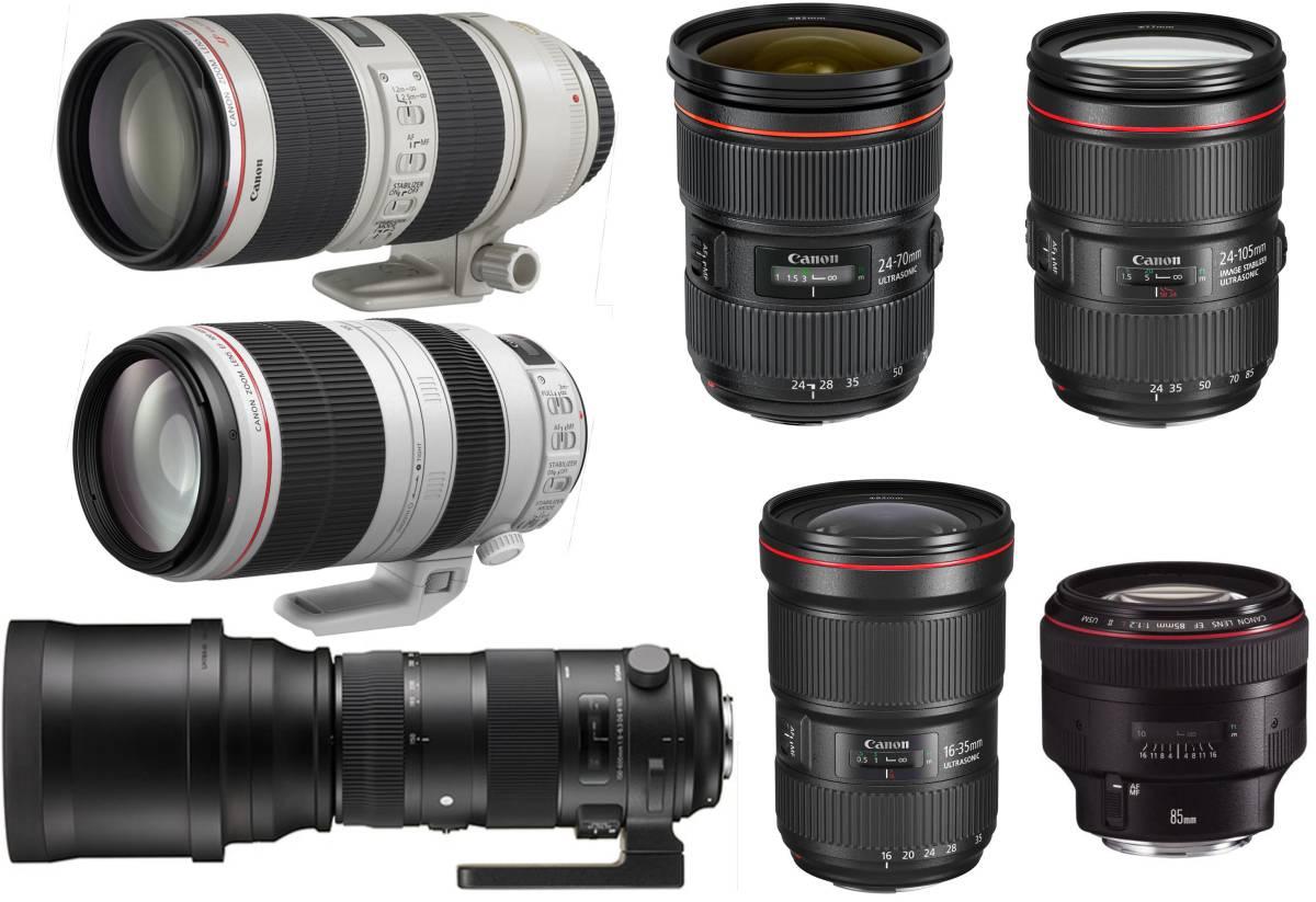 【2日間から~レンタル】Canon EOS 5D Mark IV 4ボディ 約3040万画素 4K動画 カメラ(SDXCカード64GB付)その①_オプションレンズ1,000円/日