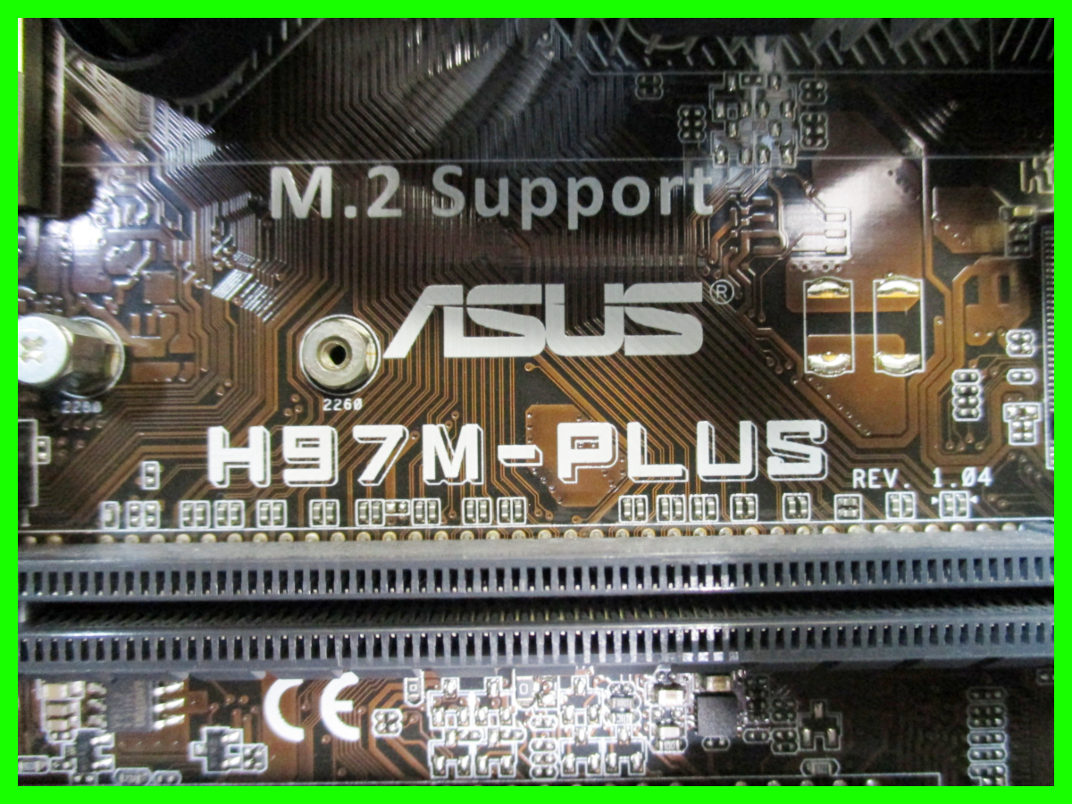 ★ PC パソコン ASUS H97M-PLUS Core i5-4460 3.20GHz Windows10 64bit メモリ DDR3 8GB HDD 1TB 2TB 2TB 計3個 ブルーレイ BTO 自作_画像6