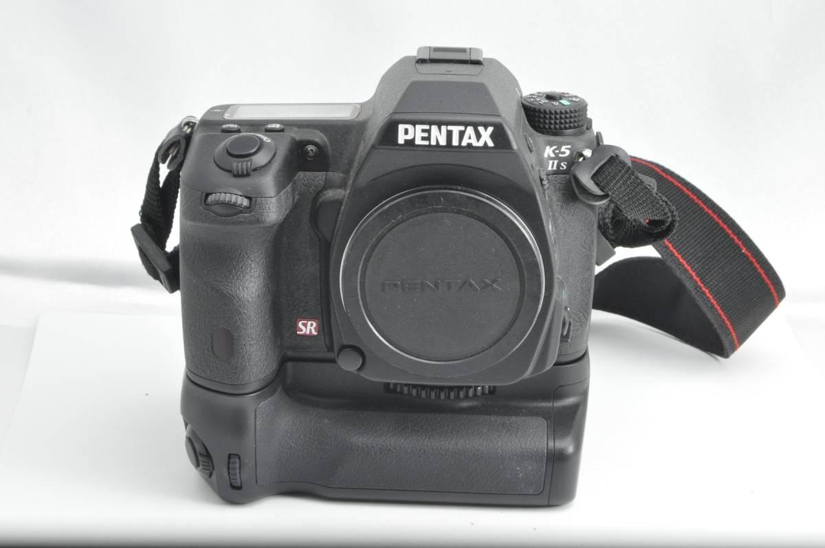 #1587 PENTAX K-5 IIs SR ペンタックス デジタル一眼レフカメラ Battery GRIP D-BG4付き