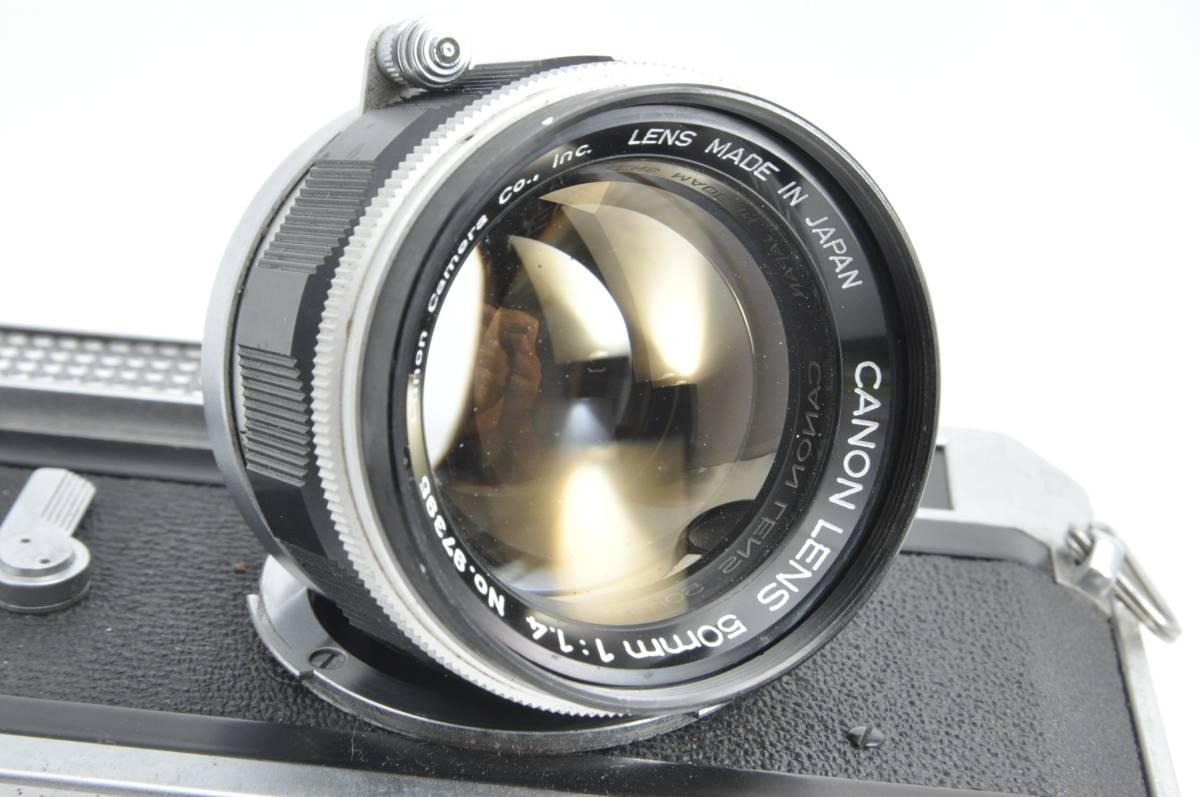#1538 CANON7 LENS 50mm F1.4 キャノン レンジファインダー フィルムカメラ_画像2
