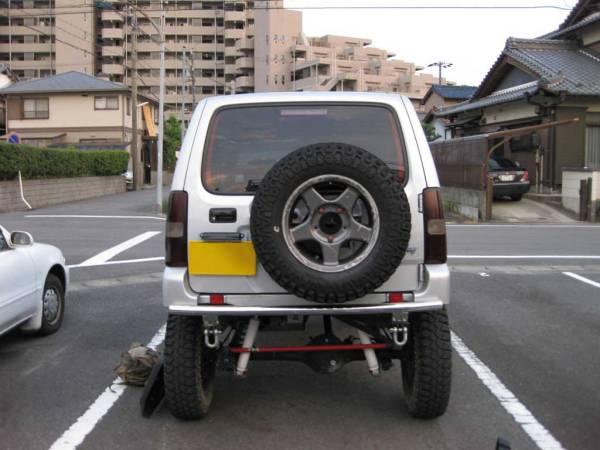 ジムニー JB23 スペアタイヤ移動キット ナンバー移動!