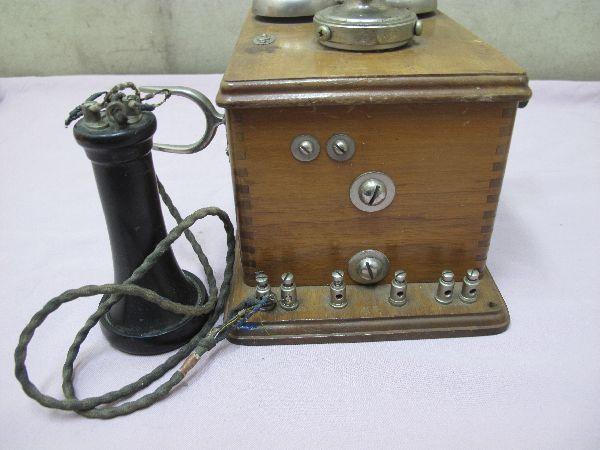 デルビル磁石式 電話機(277) 壁掛け 昭和レトロ_画像4