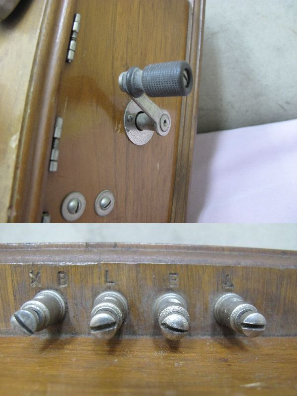 デルビル磁石式 電話機(277) 壁掛け 昭和レトロ_画像7