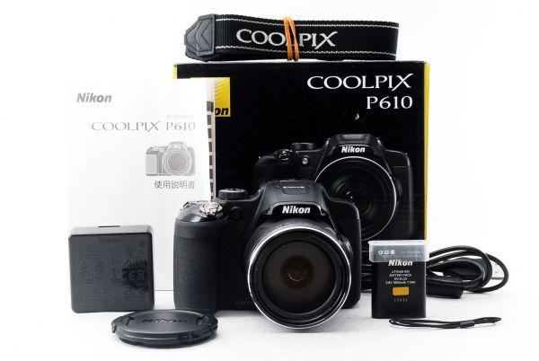 【中古美品!!】ニコン Nikon COOLPIX P610 充電器&バッテリーあり&元箱付き!! AO_020