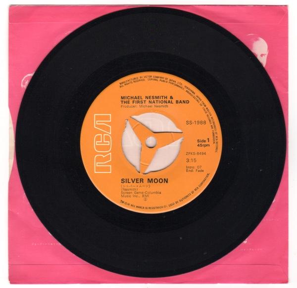 EP マイク・ネスミス ザ・ファースト・ナショナル・バンド シルバー・ムーン 谷間の娘 SS-1988_画像3