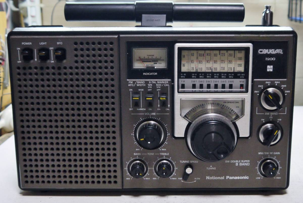 クーガ(RF-2200)AM*SW*MW*高感度受信整備品