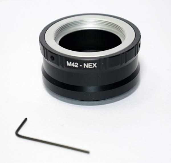 M42レンズをSONY NEX Eマウントボディで使うアダプタ(リブ付き)_画像1