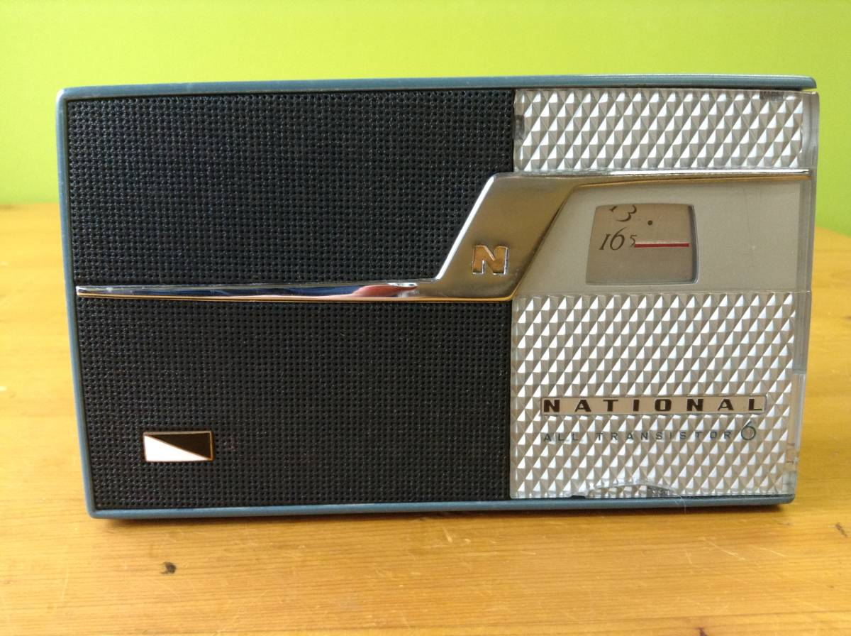 NATIONAL トランジスターラジオ AT-110 古いラジオ ジャンク品_画像2