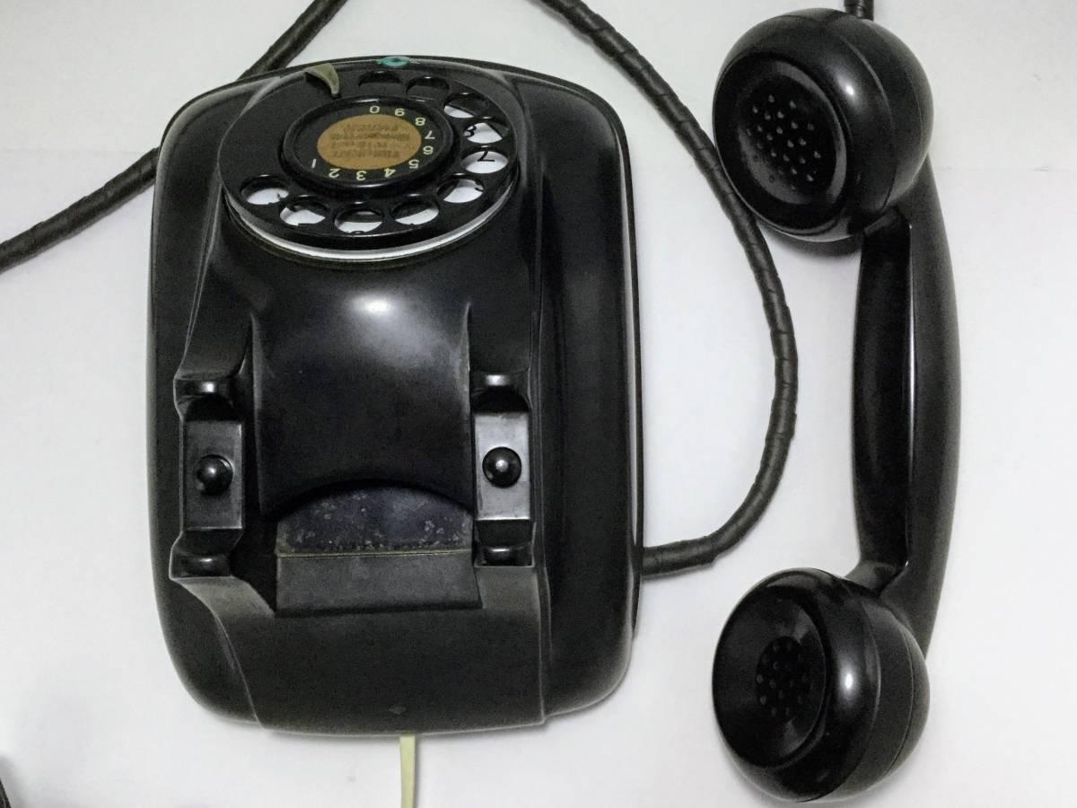 沖電気工業製 4号A自動式黒電話機 モジュラージャック換装済み 稼働確認済み 発着信/ベル鳴動/ダイヤル操作快調 昭和レトロ __画像8