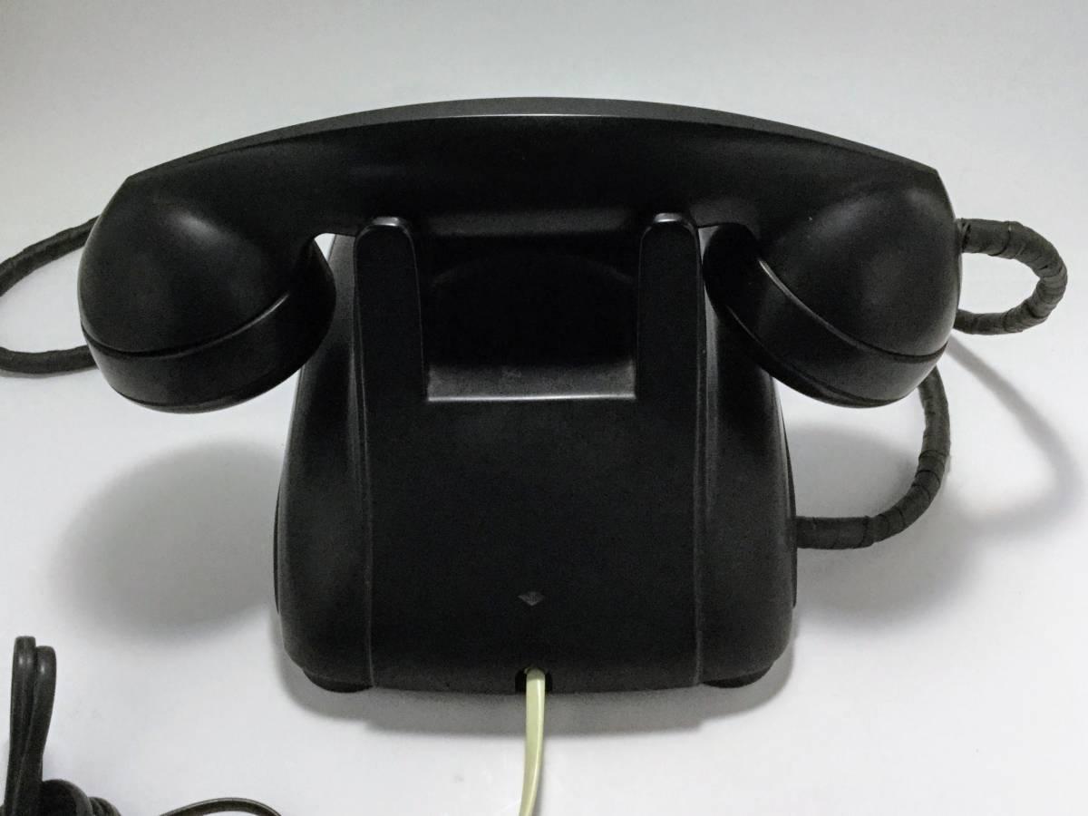 沖電気工業製 4号A自動式黒電話機 モジュラージャック換装済み 稼働確認済み 発着信/ベル鳴動/ダイヤル操作快調 昭和レトロ __画像3