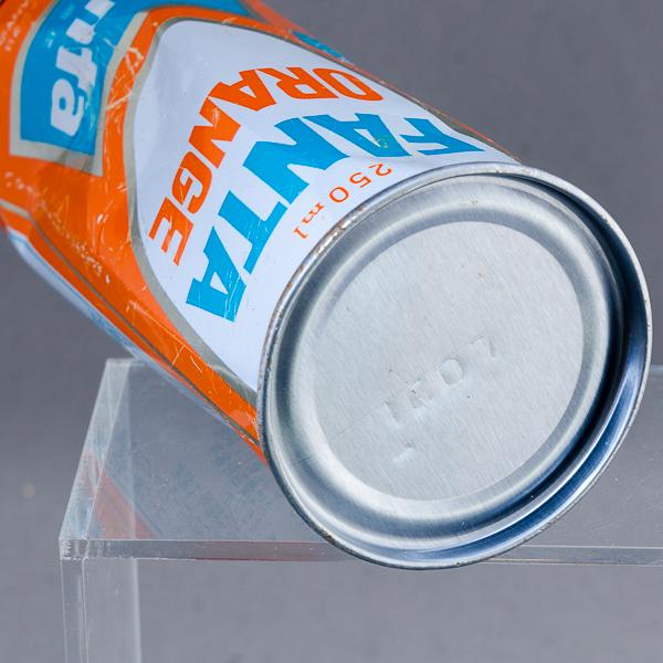 H8 昭和レトロ ファンタオレンジ スチール缶 空き缶 カン 250ml_画像4