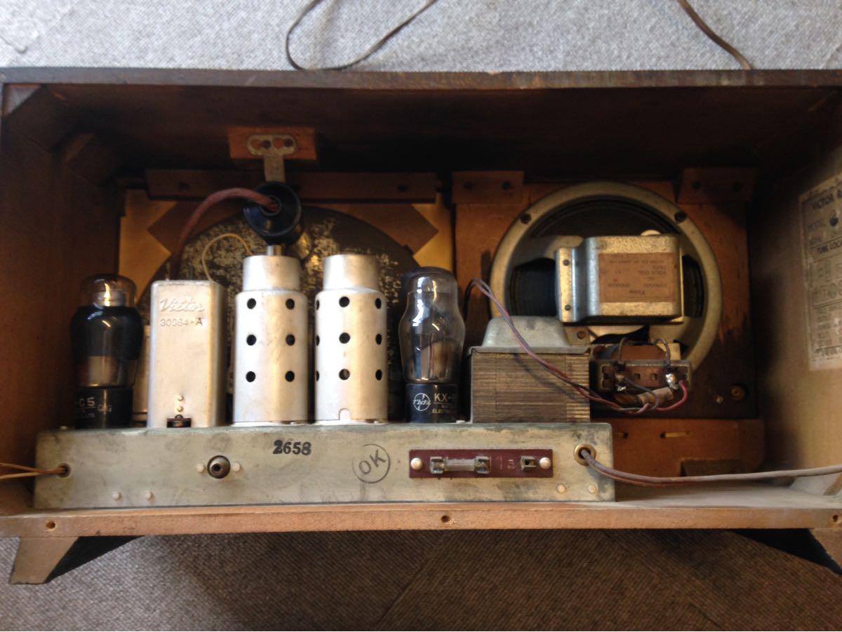 真空管ラジオ ビクター VICTOR R-619 ビンテージ アンティーク ジャンク_画像7