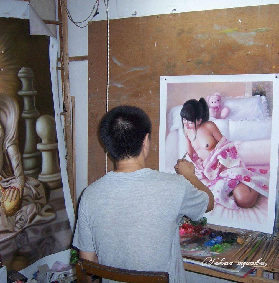 ◆Modern Art◆肉筆☆油絵☆3枚画リクエスト製作『ご希望通りに描きます』F10~F20号_画像6