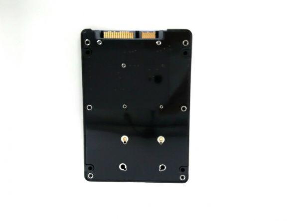 mSATA(Mini SATA)50mm→2.5インチSATA3 7mm厚 SSD変換_画像2