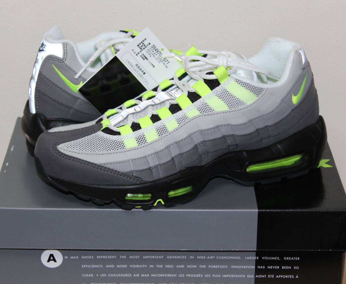 outlet store sale db1c6 976c8 ... closeout nike air max 95 og 2018 neon us8.5 jp26.5 554970 071