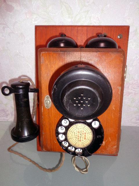★昭和レトロ 電話機★壁掛23号自動式電話機 / S.29年製★東京電気通信工作工場★