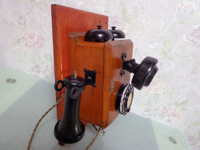 ★昭和レトロ 電話機★壁掛23号自動式電話機 / S.29年製★東京電気通信工作工場★_画像2