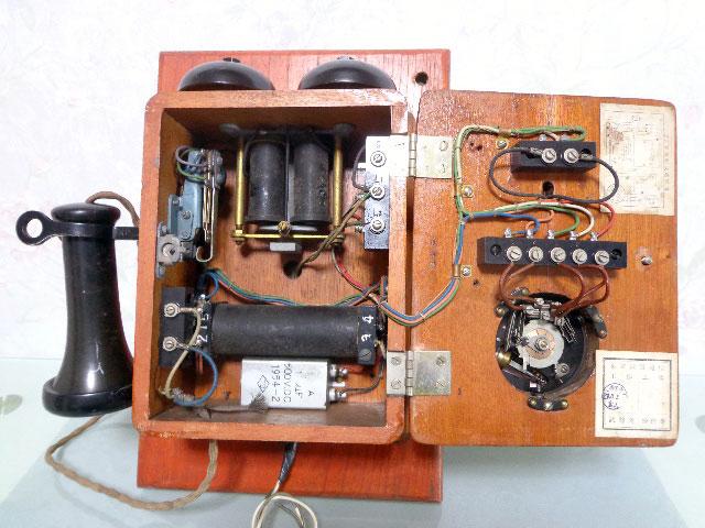 ★昭和レトロ 電話機★壁掛23号自動式電話機 / S.29年製★東京電気通信工作工場★_画像8