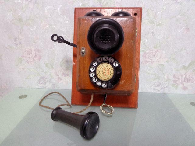 ★昭和レトロ 電話機★壁掛23号自動式電話機 / S.29年製★東京電気通信工作工場★_画像3