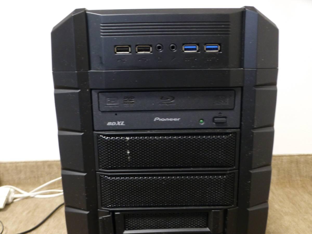COOLERMASTER HAF-XM i7_5930K 16GB SSD2台 GTX1080Ti BDドライブ他 自作PC一式_画像2