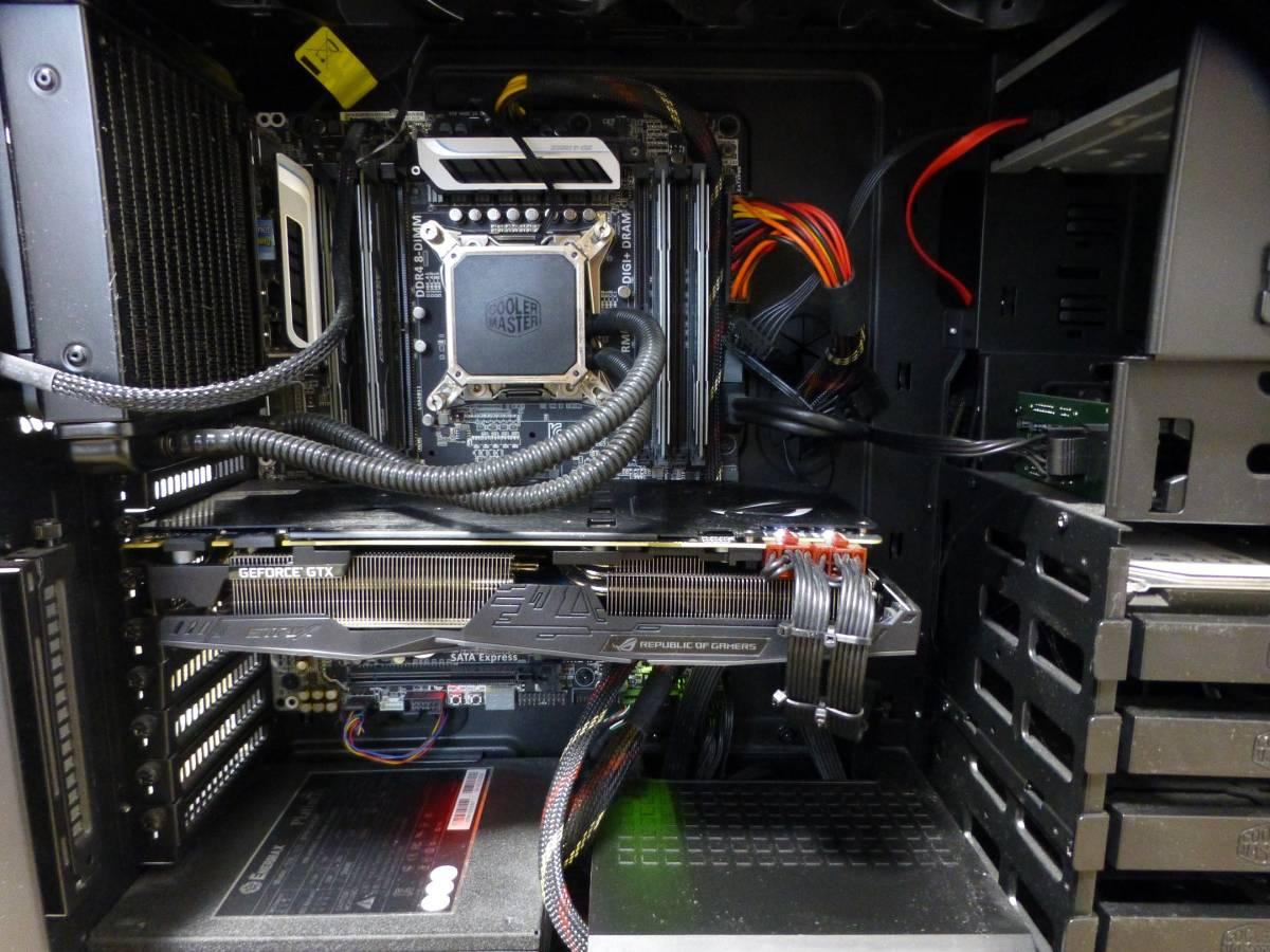 COOLERMASTER HAF-XM i7_5930K 16GB SSD2台 GTX1080Ti BDドライブ他 自作PC一式_画像6