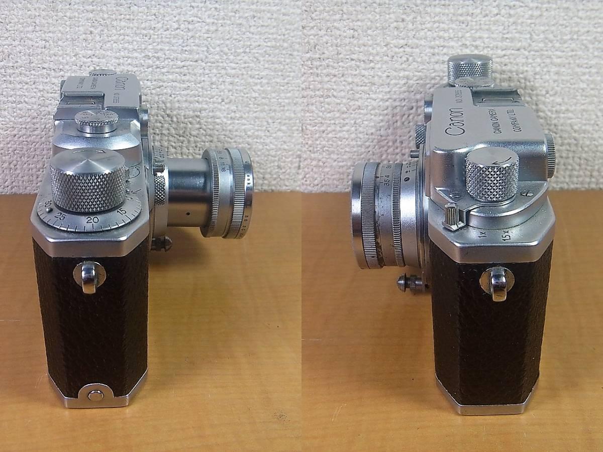シリアル3万番台 バルナック型 Canon II  Ⅳ Serener 50m F3.5 Lマウント ライカマウント MADE IN OCCUPIED JAPAN占領下の日本製_画像4