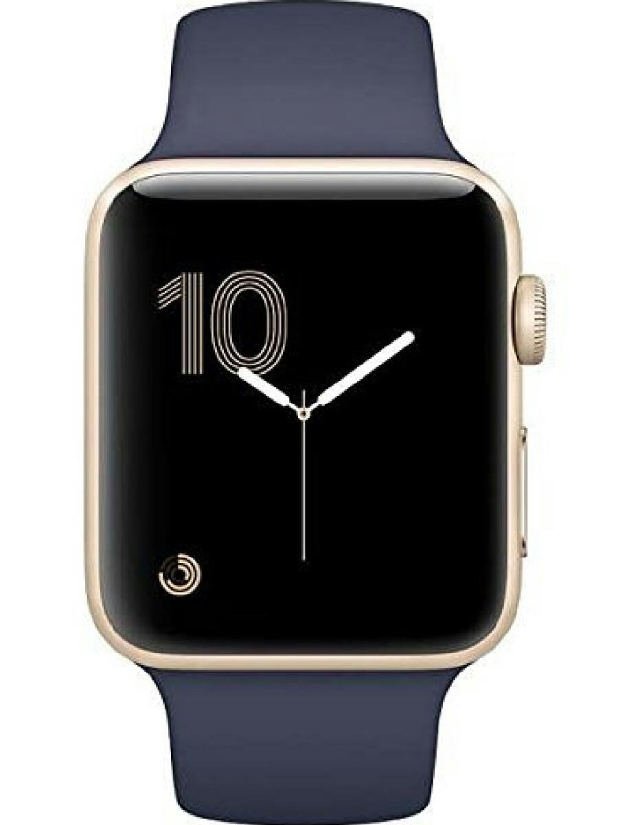 新品未使用 Apple Watch Series 2 42mm ゴールドアルミニウムケースとミッドナイトブルースポーツバンド MQ1J2J/A 送料無料 アップル