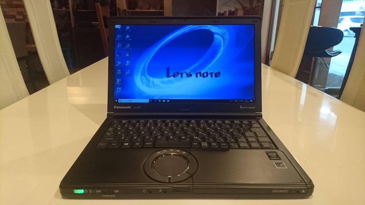 ブラックモデル Let'snote CF-SX4JDYBR Core i7-5500U 8GB 新SSD512GB Office2016 win10P