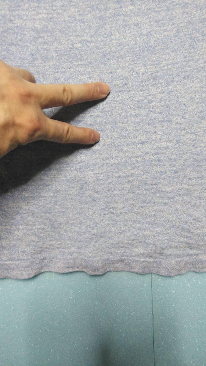 アメリカ古着80年代ビンテージChampionチャンピオントリコタグ染み込みプリント霜降りダメージTシャツ_画像6