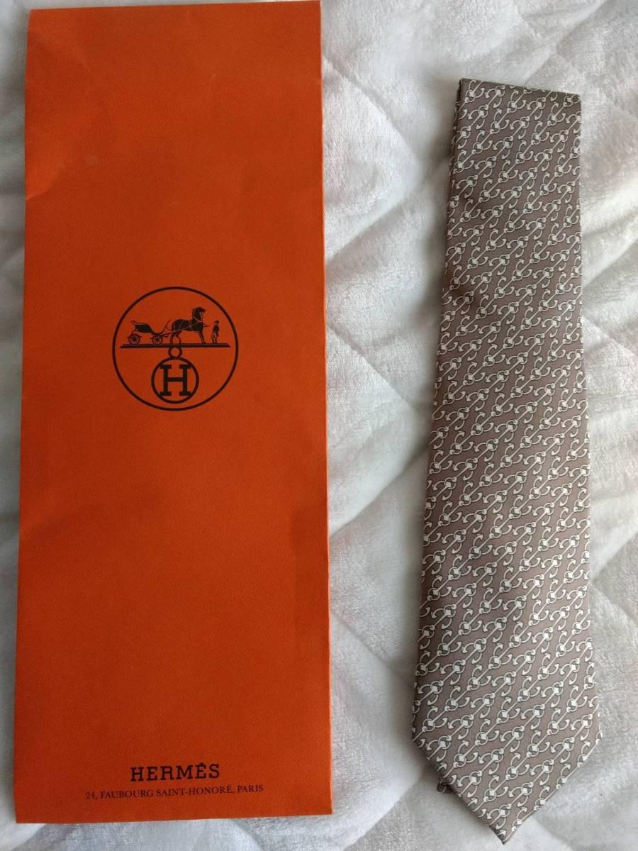 【新品未使用】送料無料! HERMES エルメス ネクタイ シルク100% フランス製