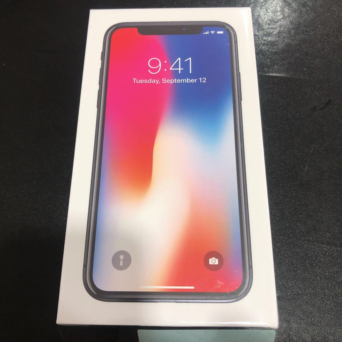 消音可能 新品未開封 iPhoneX 64GB スペースグレー 海外製 SIMフリー 未使用 シャッター音無し 売り切り MQAC2TA/A ☆