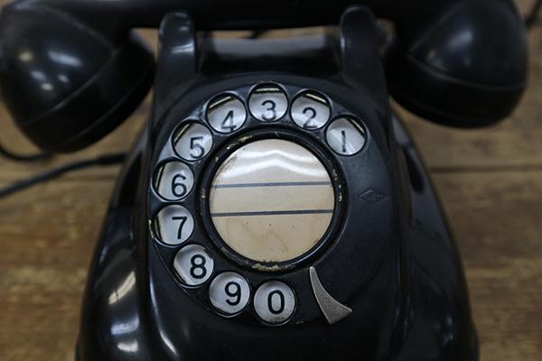黒電話 4号A自動式 アンティーク レトロ 日本電信電話公社 電話機 ストレートコード ※商品説明欄に有り_画像2