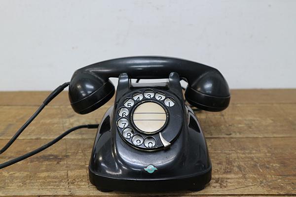 黒電話 4号A自動式 アンティーク レトロ 日本電信電話公社 電話機 ストレートコード ※商品説明欄に有り