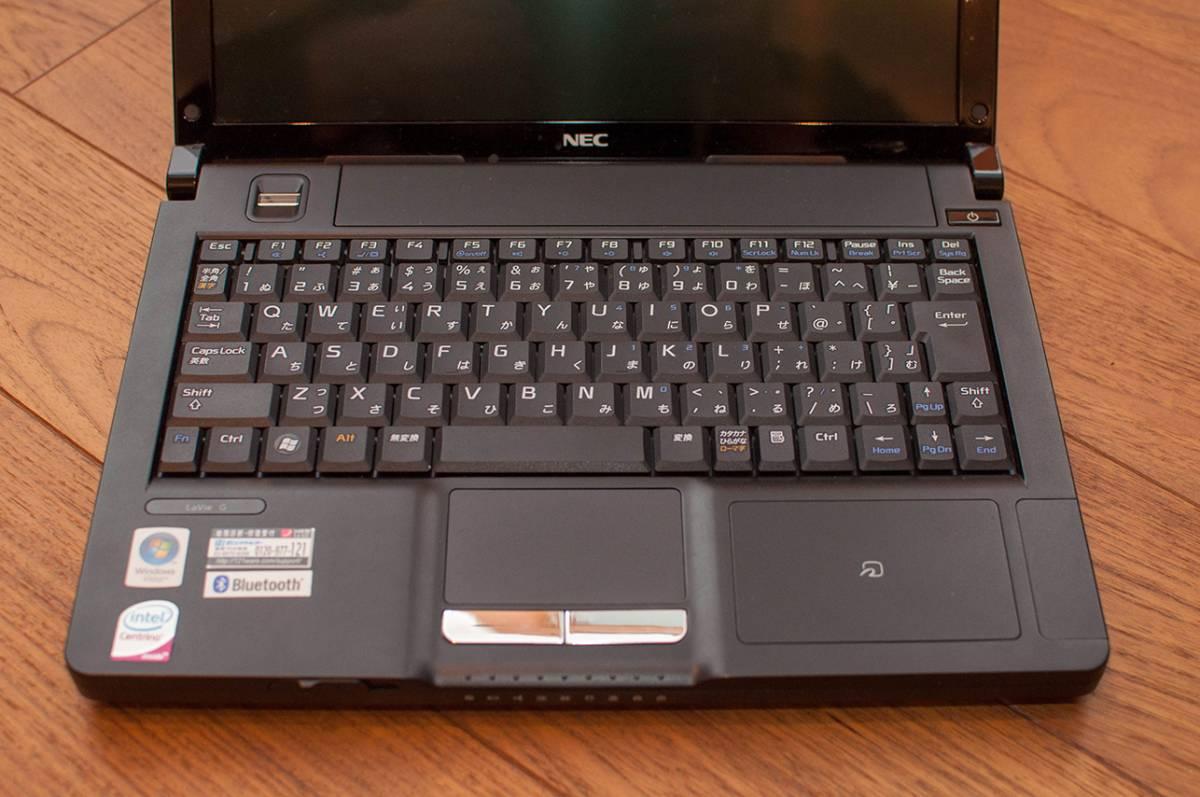 【中古】NEC LaVie G タイプJ (PC-GL12EANLA) Intel Core2Duo U7600 1.2GHz HDD 160GB メモリ3GB/箱/説明書 付き_画像4