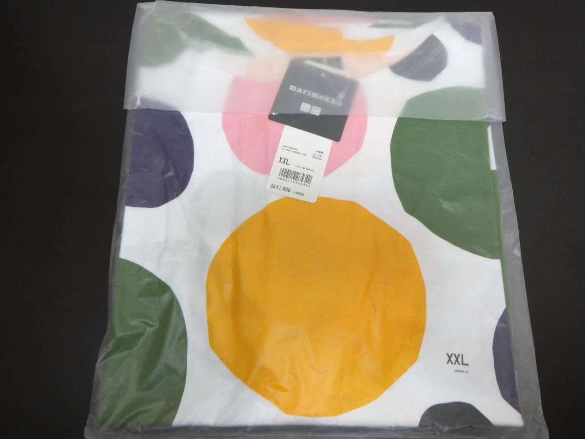 新品 XXL ユニクロ マリメッコ グラフィックT Tシャツ uniqlo marimekko オンライン限定 水玉_画像2