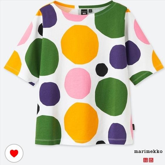 新品 XXL ユニクロ マリメッコ グラフィックT Tシャツ uniqlo marimekko オンライン限定 水玉_画像1